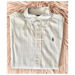 Ralph Lauren Kids Dress Shirt Light Blue White